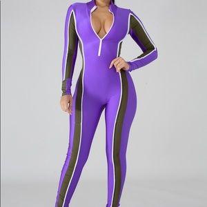 Pants - Purple Onepiece
